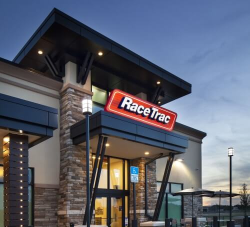 RaceTrac store entryway of 5,500-square-foot store model